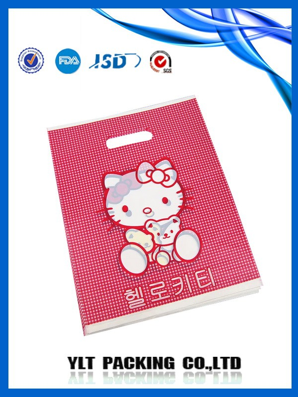 the photo of LDPE shopping handle bag