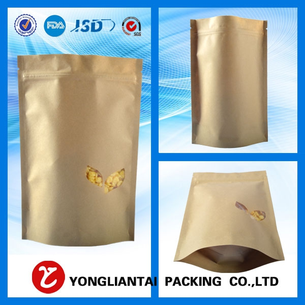 Brown paper bags clear window