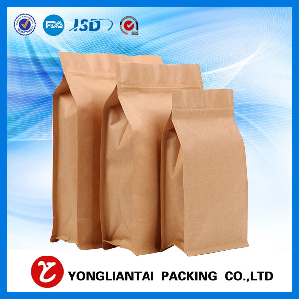 Ziplock stand up kraft paper bag wholesale