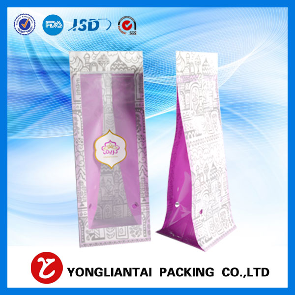 Flat bottom gusset cellophane bags