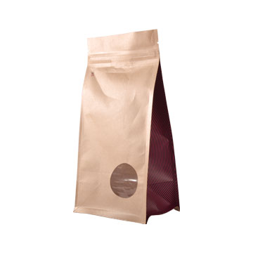 Flat bottom kraft paper bag photo