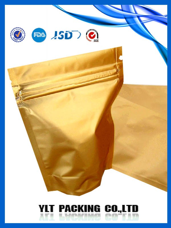 Resealable aluminum foil packaging bags customized