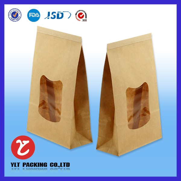 Kraft paper bag with window
