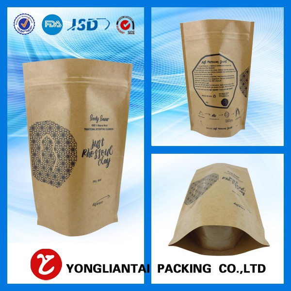 White kraft paper bags wholesale 2016 cheap customized