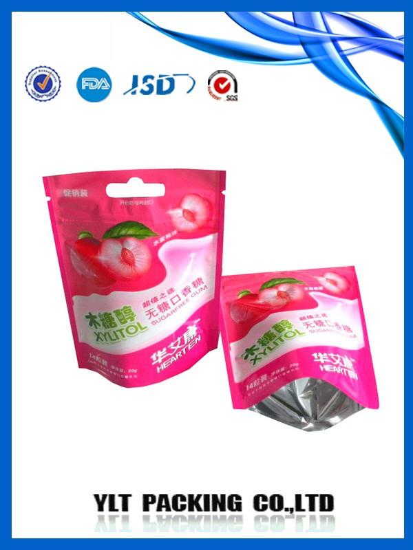 Aluminum foil plastic zipper bag/clear plastic pouch bag,food packaging aluminium foil bag with zipper