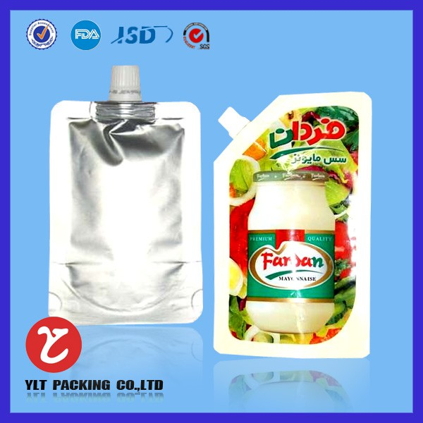 Custom spout pouch/liquid plastic bag with spout wholesale