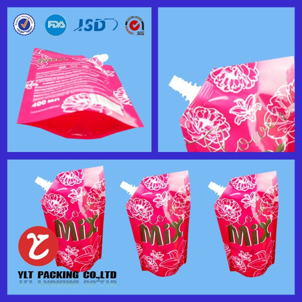Best selling printing spout pouch for liquid packaging wholesale