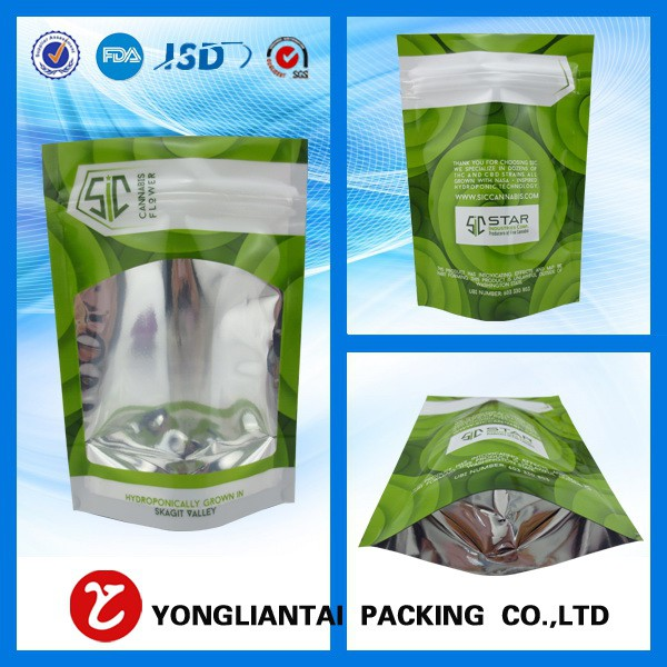 Health food pouch for flour packaging bag with ziplock