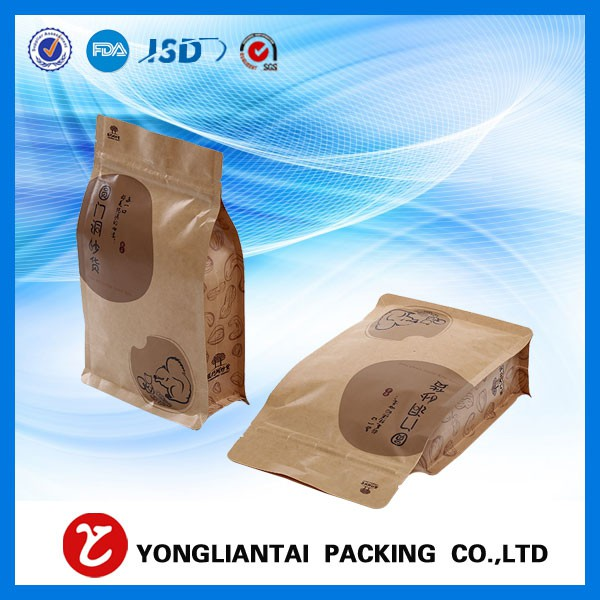 Jual flat bottom pouch kraft paper Food Grade