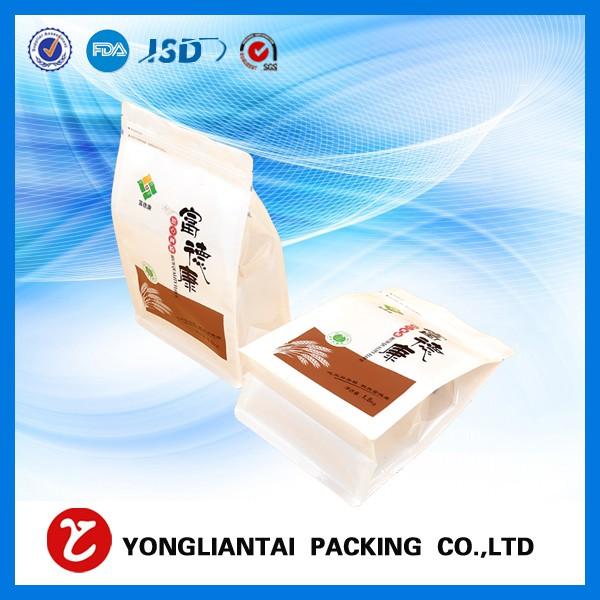 Square bottom cellophane bags Custom printed food grade