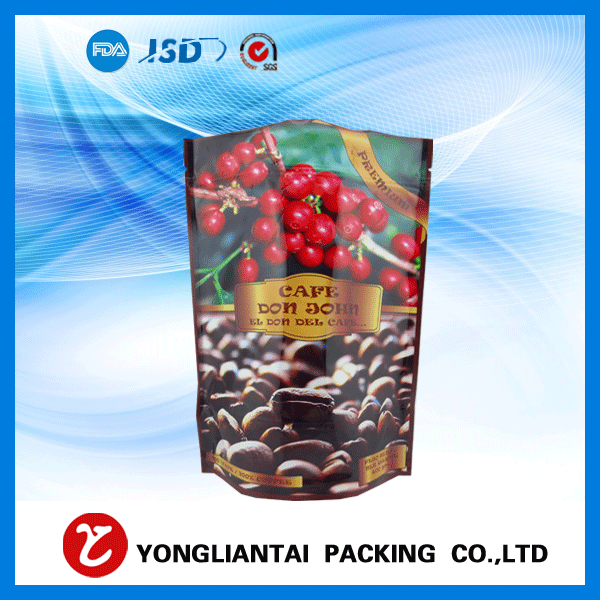 Food grade  Aluminum foil coffee bags with valve