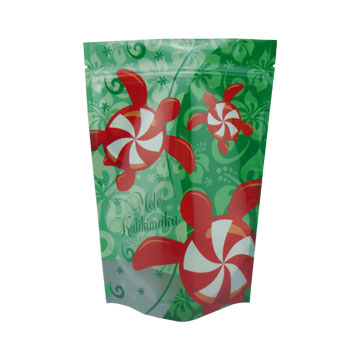 plastic packaging stand up candy bag for Christmas of china supplier