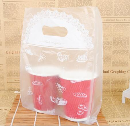 die cut bag clear plastic HDPE promotion bag
